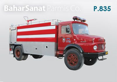 Benz 1924 Fire truck: P.835 supporter